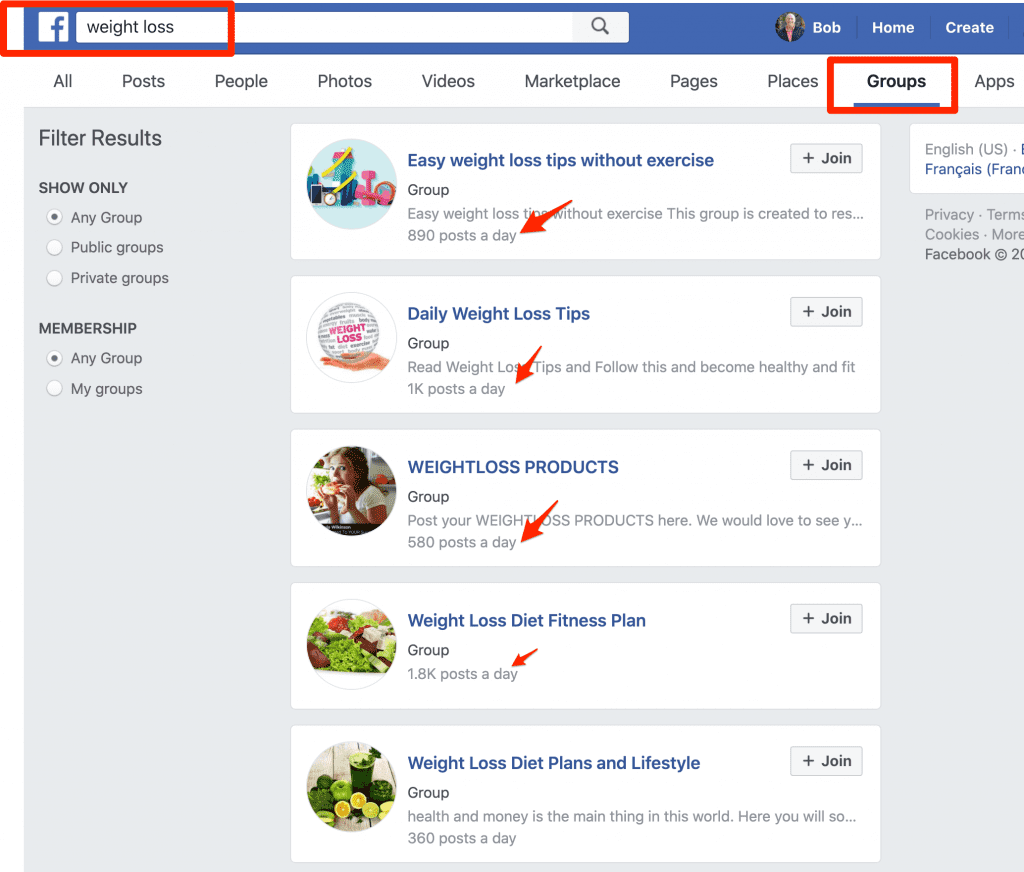 find prospects on facebook