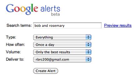 google alerts example