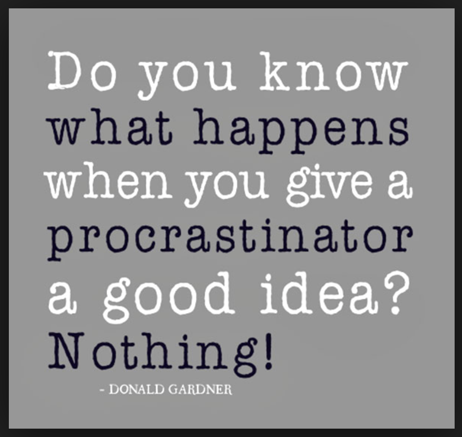 procrastination quote 2