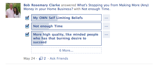 ask a question on facebook