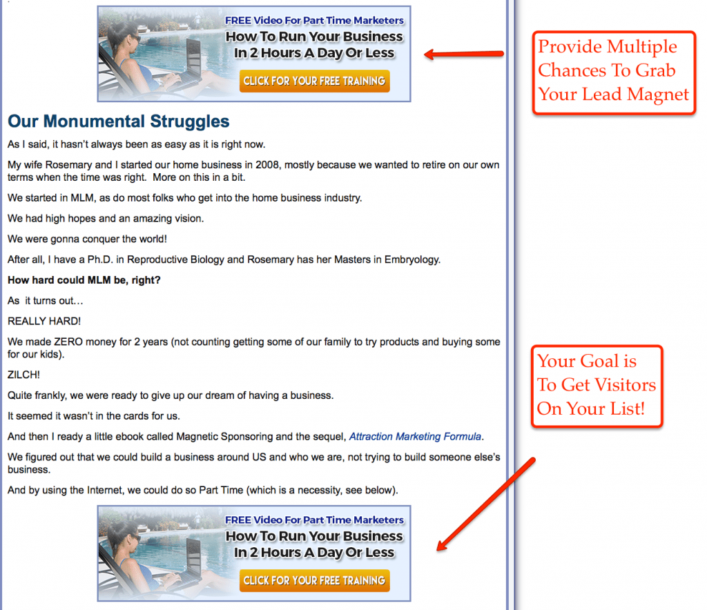 about page Lead Magnet Step 7